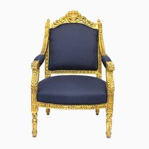 Antiker Louis XVI Armlehnsessel