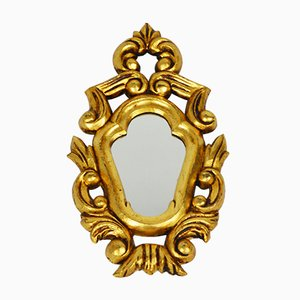 Mid-Century Gold-Framed Mirror, 1950s