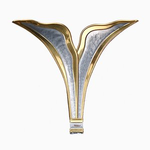 French Foliage Wall Sconce by Richard Faure, 1980s