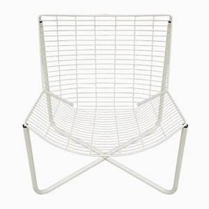 White Järpen Wire Lounge Chair by Niels Gammelgaard for IKEA, 1980s