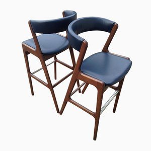 Mid-Century Fire Bar Stools by Kai Kristiansen, Set of 2
