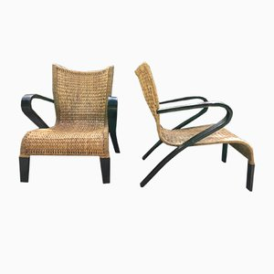 Bentwood Lounge Chairs, 1970s, Set of 2
