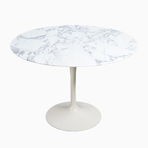 Tulip Dining Table with Marble Top by Eero Saarinen for Knoll International, 1950s