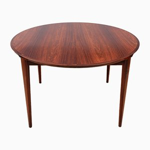 Extendable Rosewood Dining Table by Henry Rosengren Hansen for Brande Møbelindustri, 1963