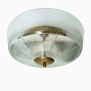 Große italienische Deckenlampe von Fidenza Vetraria, 1960er
