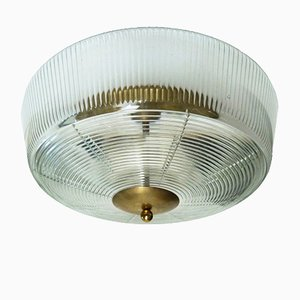 Lampada da soffitto grande di Fidenza Vetraria, Italia, anni '60