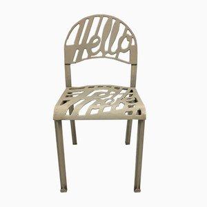 White Hello There Chair von Jeremy Harvey & Vico Magistretti für Artifort, 1970er