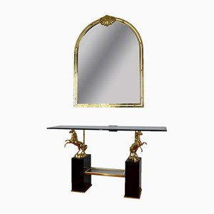 Vintage Console Table with Mirror, 1970s