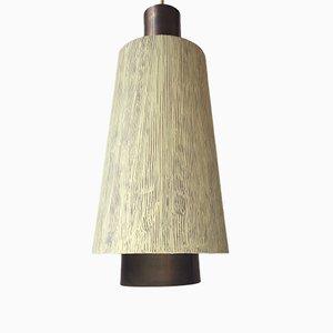 Lámpara colgante danesa de latón de Lyfa, años 50