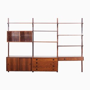 Mid-Century Rosewood Shelving System by Poul Cadovius for Johannes Hansen