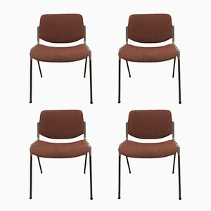 DSC 106 Stackable Chairs by Giancarlo Piretti for Castelli, 1970s, Set of 4