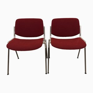 DSC 106 Stackable Chairs by Giancarlo Piretti for Castelli, 1970s, Set of 2