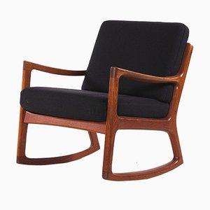 Rocking Chair en Teck par Ole Wanscher pour France & Søn, 1960s