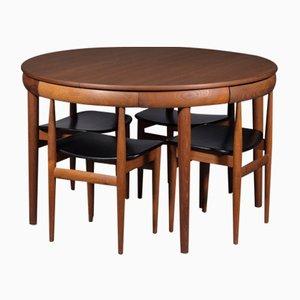 Set da pranzo Roundette Mid-Century di Hans Olsen per Frem Rojle, anni '60
