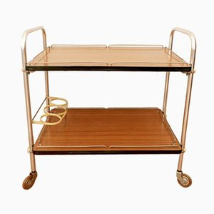 Mid-Century Serving Bar Cart