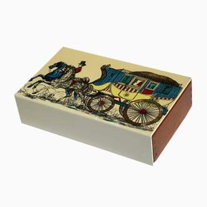Mid-Century Metal Box by Piero Fornasetti, 1950s