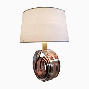 Lámpara de mesa italiana de lucite, años 70