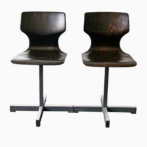 Beistellstühle von Adam Stegner für Pagholz Flötotto, 1970er, 2er Set