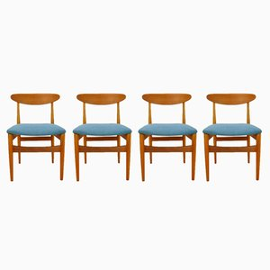 Mid-Century Esszimmerstühle aus Teak, 1960er, 4er Set