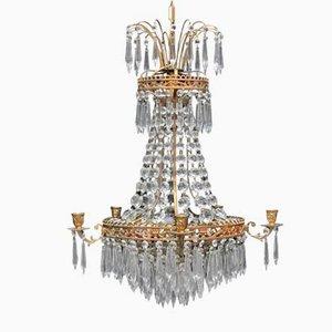 Lámpara de araña Prisma sueca antigua