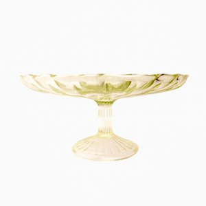 Vintage Cake Stand from HSG Ząbkowice Glassworks