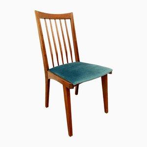 Sedie in faggio e velluto verde di Rajmund Teofil Hałas per Poznań Union of Furniture Industry, anni '60, set di 4