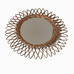 Vintage Curved Witch Mirror, 1960s