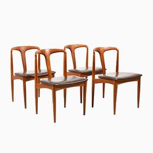 Juliane Vintage Esszimmerstühle von Johannes Andersen für Uldum, 4er Set