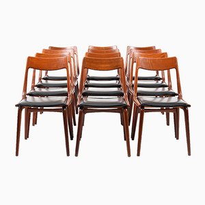 Boomerang Teak Chairs by Alfred Christensen for Slagelse, 1950s, Set of 12