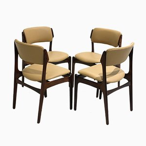 Rosewood Dining Chairs by Erik Buch for Oddense Maskinsnedkeri, 1960s, Set of 4