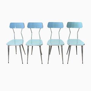 Esszimmerstühle aus Formica & Metall, 1950er, 4er Set