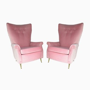 Mid-Century Italian Armchairs by ISA Bergamo, 1950s, Set of 2