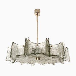 Crystal Glass Chandelier by Kaiser Leuchten, 1960s