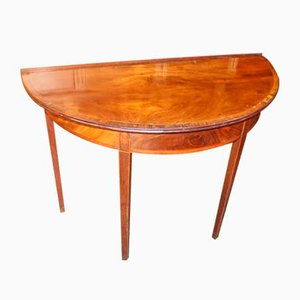 Demilune Mahogany & Rosewood Table, 1920s