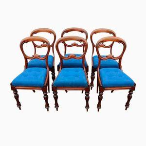 Chaises de Salon avec Dossier Courbé en Acajou, Set de 6