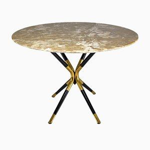 Round Vintage Italian Marble Table by Cesare Lacca, 1950s