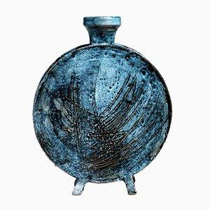 Italian Blue Vase by Giuseppe Rossicone, 1960s
