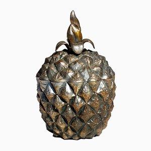 Italienischer Ananas Eiskübel aus Metall von Roberta Wood, 1970er