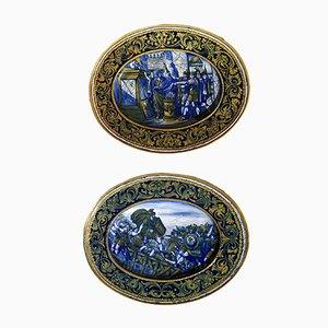 Italian Majolica Plates by Morroni & Tega, 1930s, Set of 2
