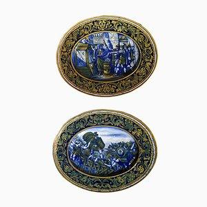 Italian Majolica Plates by Morroni & Tega, 1930s, Set of 2