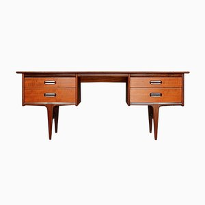 Mid-Century Afromosia Desk from A. Younger designed by John Herbert