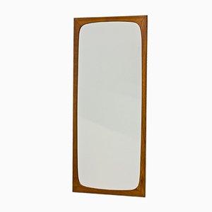 Danish Teak Wall Mirror, 1950s