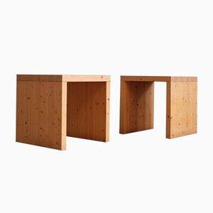 Mesas suecas de pino, años 70. Juego de 2