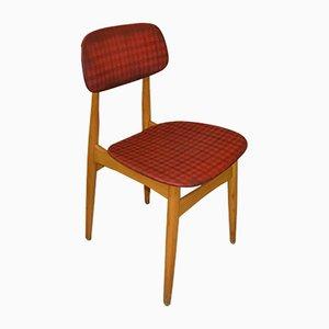 Rot-karierter Vintage Küchenstuhl