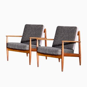 Easy Chairs by Grete Jalk, 1950s, Set of 2