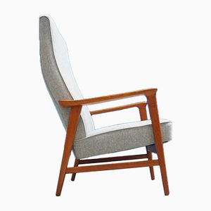 Mid-Century Danish High Long Back Teak Armchair