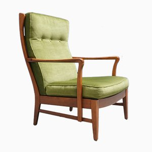 Mid-Century Swedish High Back Armchair