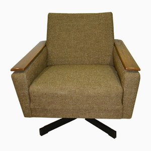 Brown Swivel Lounge Chair, 1960s