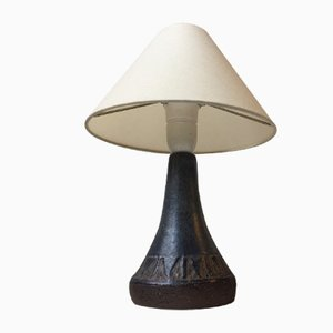Danish Stoneware Table Lamp by Jan Ulric for Nordisk Solar, 1970s