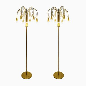 Vintage Palm Floor Lamps, Set of 2